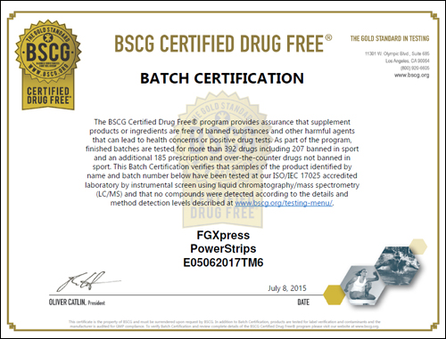 Certificate Drug - free